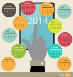 2014 year calendar vector