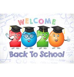 2020 back to school caracter 3d white bg vector image