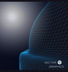 3d landscape vector image