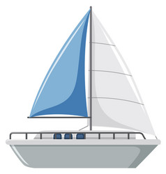 a simple sailboat on white background vector image