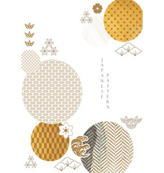 Abstract art background with gold texture vector
