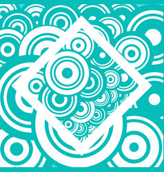 abstract retro background with blue and white vector image