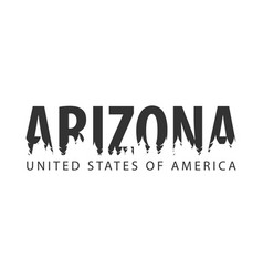 arizona usa united states of america text or vector image