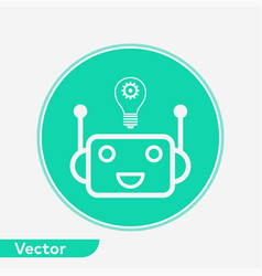 artificial intelligence icon sign symbol vector image