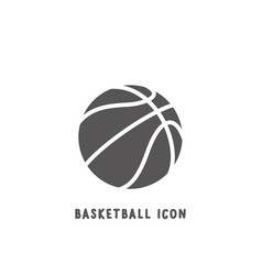 basketball icon simple flat style vector image