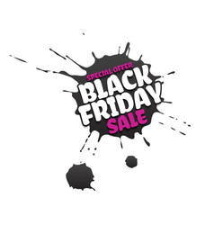 black friday sale grunge poster pink special vector image