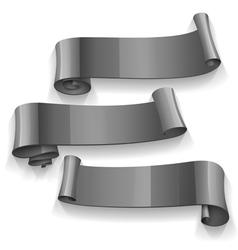 Black Glossy ribbons set vector