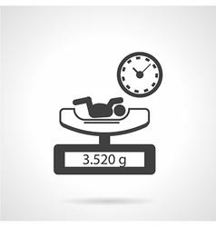 Black icon for newborn exam vector image