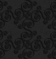 Black textured plastic diagonal spiral flourish vector image