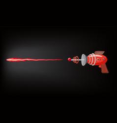 blaster laser gan game shot ray and flash vector image