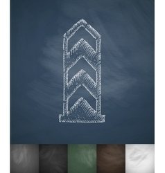 Boundary monument icon Hand drawn vector
