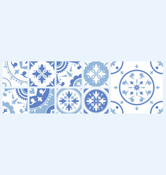 Bundle of ceramic square tiles with various vector