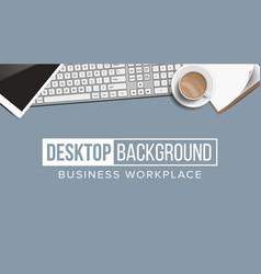 Business workplace desktop background vector