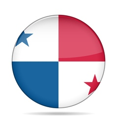 Button with flag of Panama vector