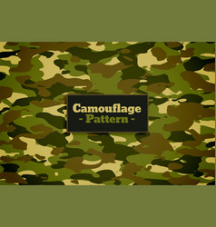 camouflage pattern texture in green shades vector image