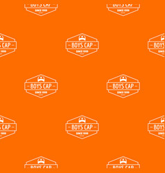 Cap pattern orange vector