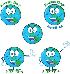 Cartoon globe design vector