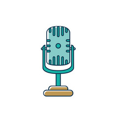 classic microphone voice melody sound music line vector image