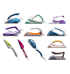 collection iron steamers smoothing irons vector image