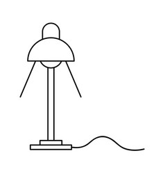 Desk lamp light bulb electricity object outline vector