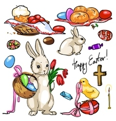 Easter collection vector