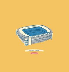 Famous spanish football stadium located in madrid vector