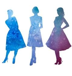 female model watercolor vector image