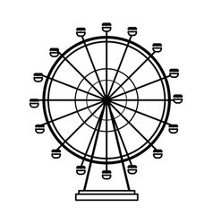 feries wheel icon vector image