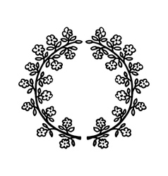 Floral hand-drawn frame vector