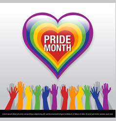 For pride month banner pride vector