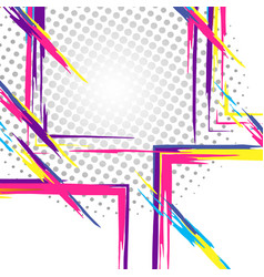 Geometric colorful collage vector