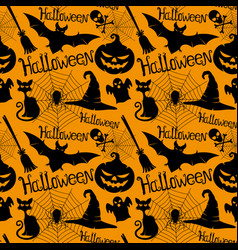 halloween orange background vector image