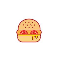 Hamburger Colorful Icon vector image