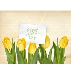 Happy Mother Day Tulips Flower EPS 10 vector