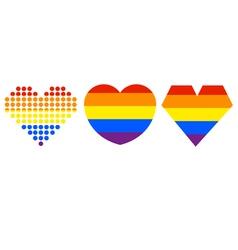 Heart LGBT vector image