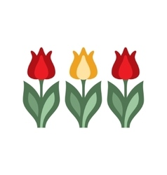 Holandaise Tulips Simplified Icon vector