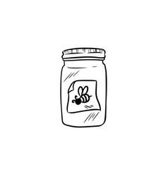 Honey jar doodle vector