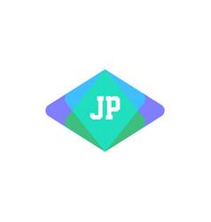 Initial letter logo jp template design vector