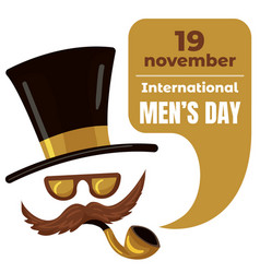 International men day concept background cartoon vector