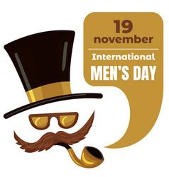 international men day concept background cartoon vector image