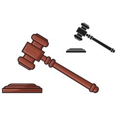 judge gavel - hammer judge or auctioneer vector image