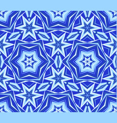 Kaleidoscope blue star flower background vector