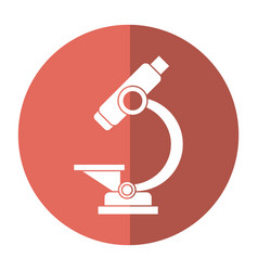 laboratory microscope equipment icon shadow vector image