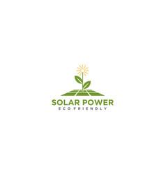 Logo solar technology modern technology vector