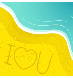 Love message in the sand vector