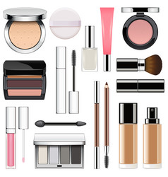 makeup icons set 2 vector image