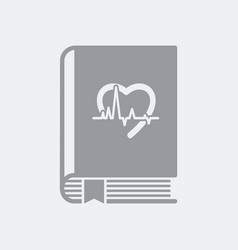 medical book flat icon vector image