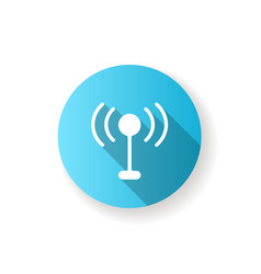 mobile networks app blue flat design long shadow vector image