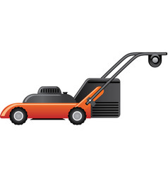 Modern red lawn mower vector