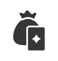 Money bag card casino vegas vector